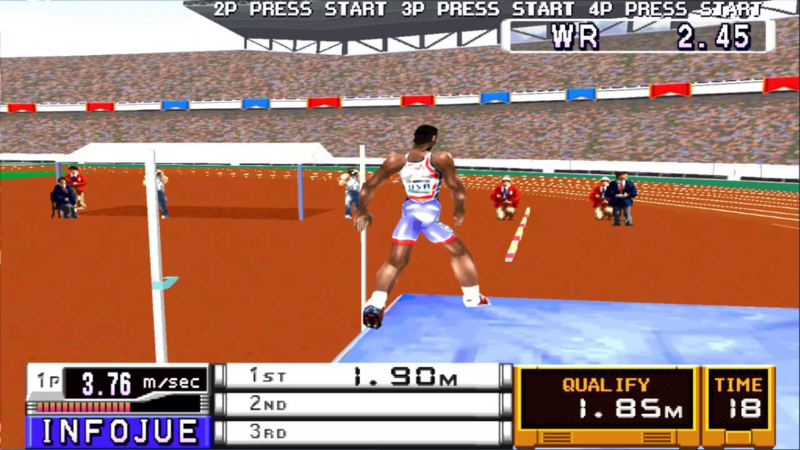 International Track & Field 2  (PS1 tweedehands game)