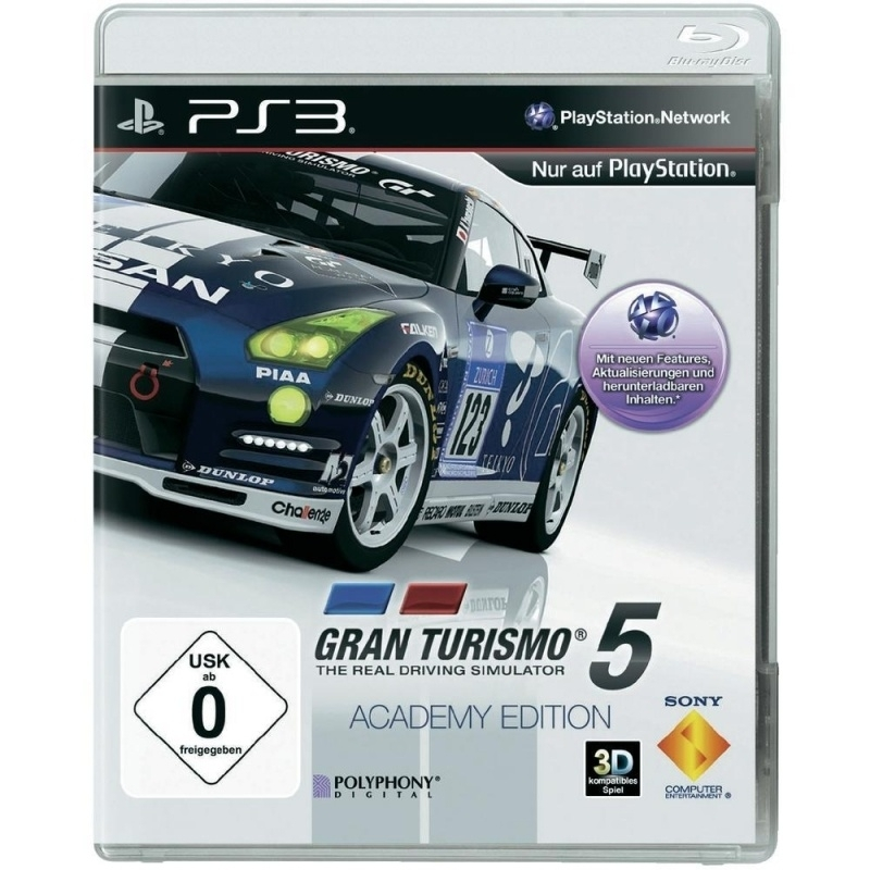 Gran Turismo 5 academy edition (ps3 used game)