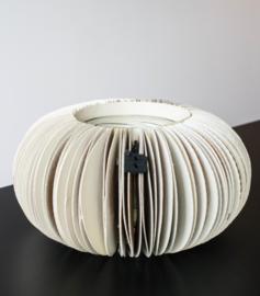Paper fan tlight round – cream