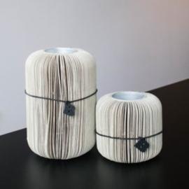 Paper fan low – Cream