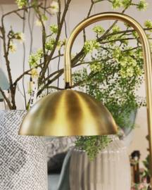 Tafellamp, lees/ werklamp metaal mat goud