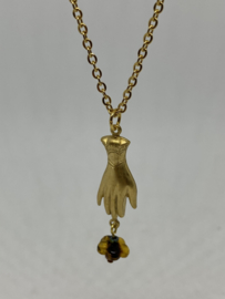 Helping hand necklace  ( gold)