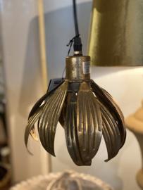 Hanglampje tulpmodel bronskleurig metaal