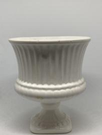 Vintage witte klassieke vaas/ bloempot