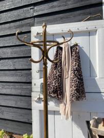 Hoge staande vintage houten kapstok