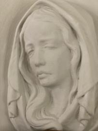 Maria afbeelding van gips