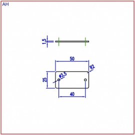 Nummerplaat 50x25 Zwart/Wit, gegraveerd (webart022)
