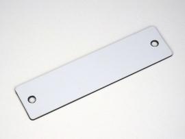 Naamplaat 100x25 Wit/Zwart, blanco (webart011)