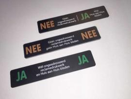 Reclameplaatjes Set NEE-JA / NEE-NEE / JA-JA, 93x19 mm (webart152)
