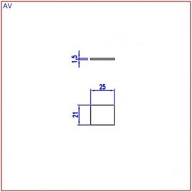 Nummerplaat 25x21 Grijs/Zwart, blanco (webart062)