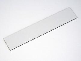 Naamplaat 109x21 Wit/Zwart, blanco (webart058)