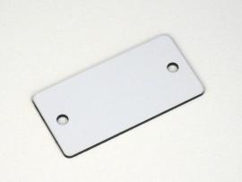 Nummerplaat 50x25 Wit/Zwart, blanco (webart019)