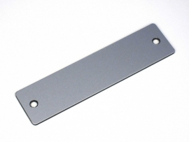 Naamplaat 100x25 Aluminium/Zwart, blanco (webart015)