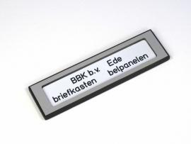 Naamplaathouder 110x30 zilvergrijs (webart027)