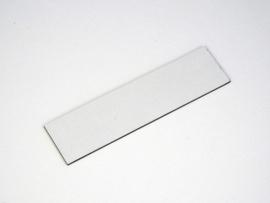 Naamplaat 84x21 Wit/Zwart, blanco (webart060)