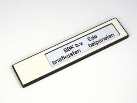 Naamplaathouder 140x30 wit, zonder gravering (webart028)