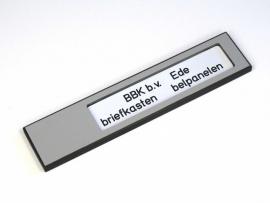 Naamplaathouder 140x30 zilvergrijs, zonder gravering (webart034)