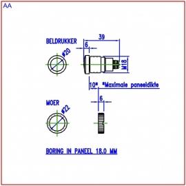 Beldrukker bbk18-rvs (webart001)
