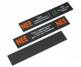 Reclameplaatjes Set NEE-JA / NEE-NEE / Zwart 109x21 mm (webart153)