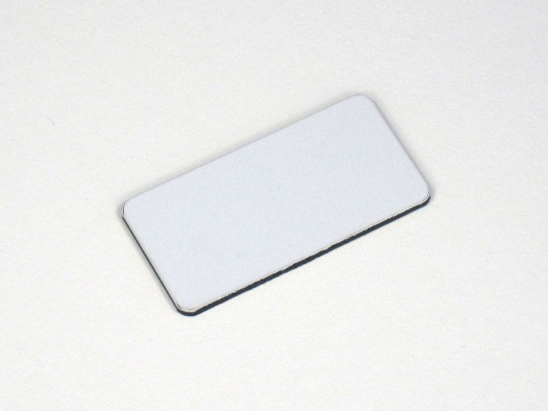Nummerplaat 40x20 Wit/Zwart, blanco (webart168)