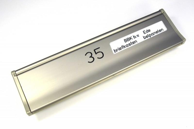 Briefplaat EMA290 RVS-look --_NR_NM (webart174)