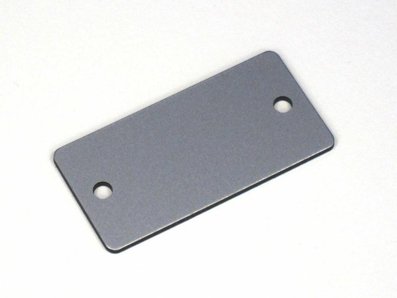 Nummerplaat 50x25 Aluminiumt/Zwart, blanco (webart023)