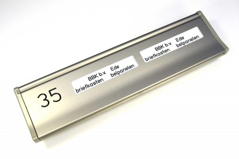 Briefplaat EMA307 RVS-look NR_NM_NM (webart194)