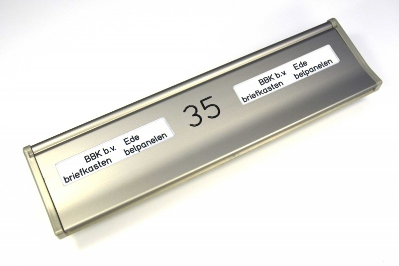 Briefplaat EMA290 RVS-look NM_NR_NM (webart116)