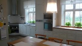 Nieuwe ambachtelijk gemaakte keuken