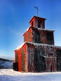 De toren op de grote koperberg in Falun