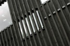 Moderne architectuur in zwart