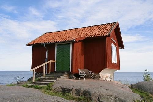 Zweedse Stuga aan zee