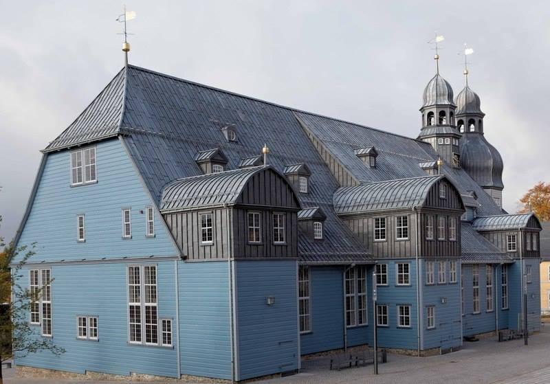 Gerenoveerde kerk in de Harz   Duitsland