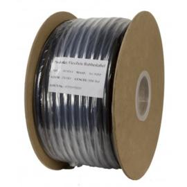 Soepele zwarte neopreen rubberkabel  3 x 1,5 mm2   50 meter