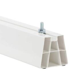 Montagebalk wit 1000mm voor montage op plat dak. 2 stuks