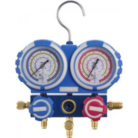 Manometerset  | Manifoldset met beschermde behuizing voor R32, R410A en R407C