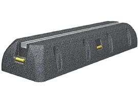 Montagebalk voor Airco van trillingsdempend rubber 450 mm  2 stuks