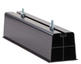 Montagebalk zwart  voor montage op plat dak. 2 stuks maten 2000 x 110 x 90 mm