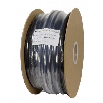 Soepele zwarte neopreen rubberkabel 3 x 2,5mm2  50 meter