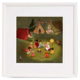 Belle and Boo schilderij Campfire Stories