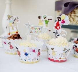 Belle & Boo cupcake wraps