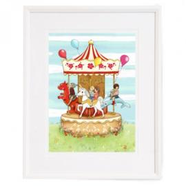 Belle and Boo scilderij Carnival Carousel