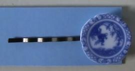 Fluistertuin Original haarspeld Delftsblauw bordje