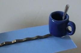 Fluistertuin Original haarspeld Mok blauw met lepeltje