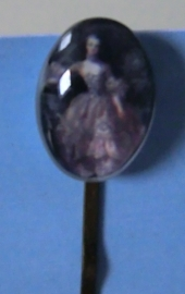 Fluistertuin Original haarspeld Cabochon dame