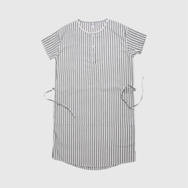 BIG DRESS STRIPE | WHITE GREY