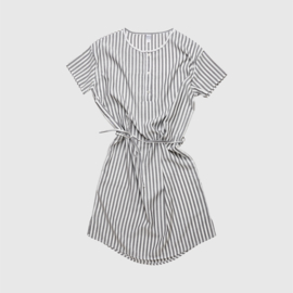 BIG DRESS STRIPE | WHITE GREY