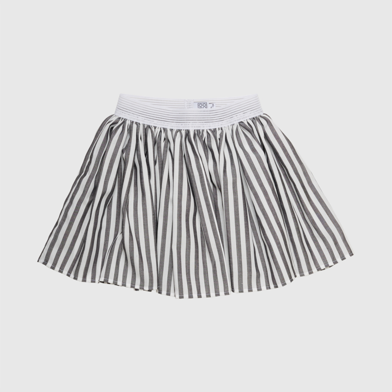 SKIRT STRIPE | WHITE GREY