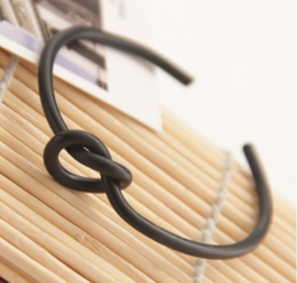 Bangle Big Knot - zwart