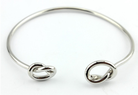 Bangle Double Knot - zilver